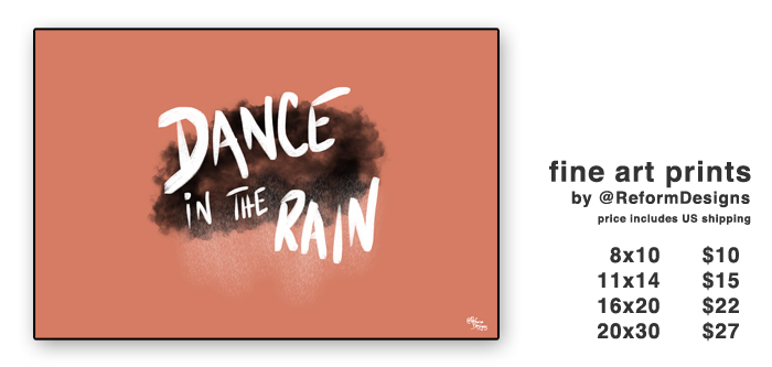 dance in the rain prints