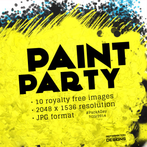 Paint Party Royalty Free Backgrounds by Reformation Designs