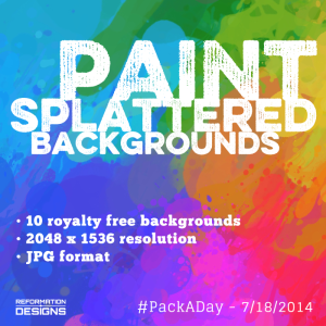 Paint Splatter Royalty Free Backgrounds by Reformation Designs