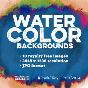 Watercolor Royalty Free Backgrounds by Reformation Designs
